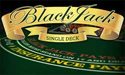 Single Deck Blackjack has 0.15% house edge that puts you almost on a even playing field with the casino.