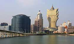 Macau has a total of 33 casinos whereof 23 are situated on the Macau Peninsula and the rest on Taipa Island.