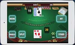 Blackjack games on the go are today very advanced. You can play several variations such as Classic Blackjack, American Blackjack, Single Deck Blackjack and much more.
