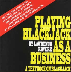 Book cover of Playing Blackjack as a Business. A new paperback copy of the book cost $19.99.