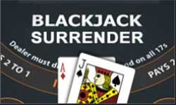 Blakjack Surrender is a popular variation amongst beginners. When the surrender option is used, only half the bet is lost.