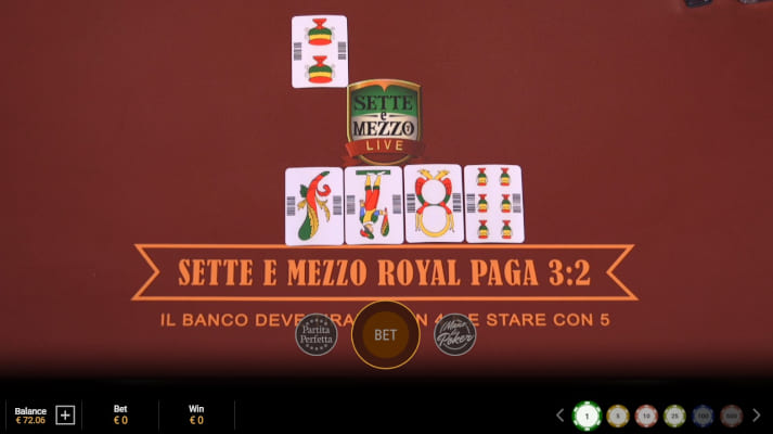 Playtech Sette E Mezzo gameplay